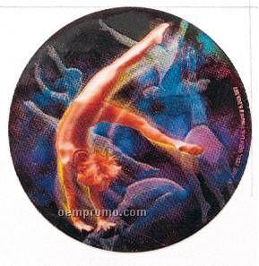 "Holographic Mylar - 2"" Gymnastics Female"