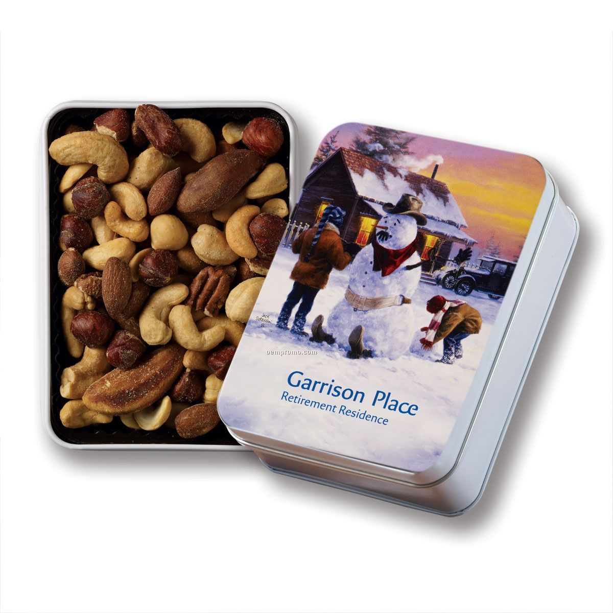 Keepsake Gift Tin W/ Spicy Nut Mix