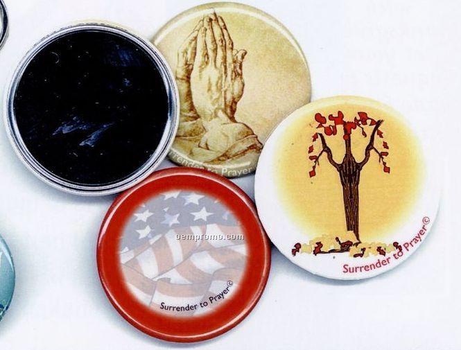 Surrender To Prayer Button/ Mirror - Psalm 27:1