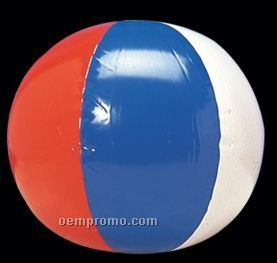 "16"" Inflatable Red/ White/ Blue Beach Ball"