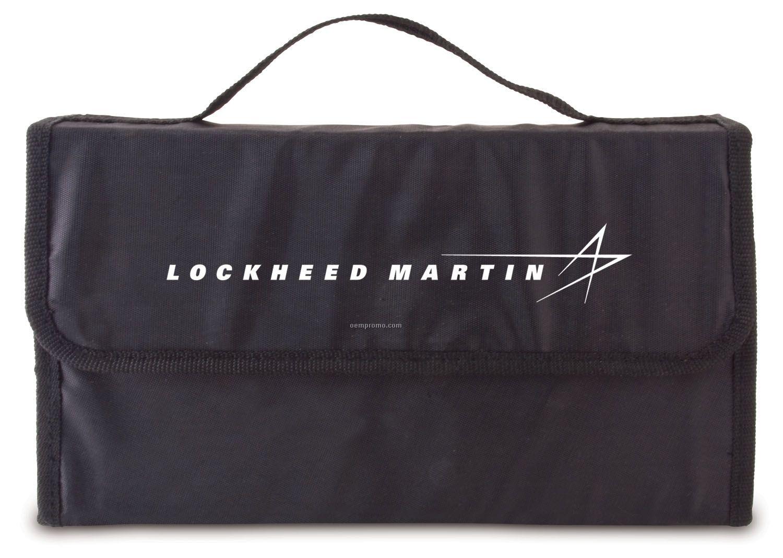 6-piece Auto Safety Kit In Black 600d Nylon Case
