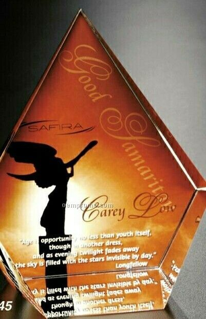 """Crystal Illumachrome Coventry Diamond Award (6 3/4""""X8""""X2 1/2"""")"""