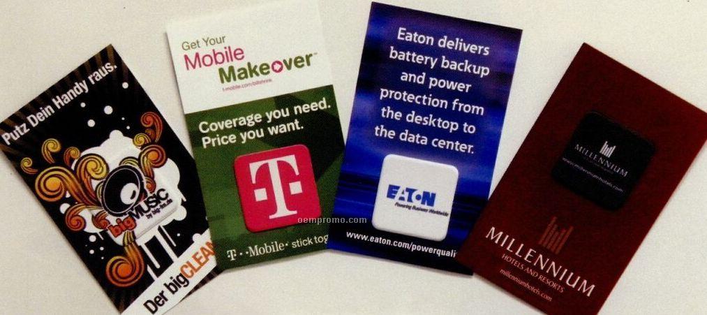 Digiclean Micro Fiber Screen Cleaner Custom Card