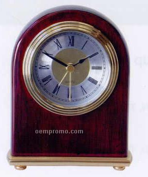 "Piano Finish Wood Arch Alarm Clock (4""X1-3/8""X5-1/4"")"