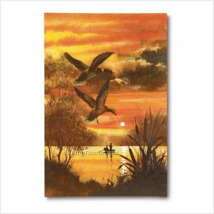 Ducks Over Lake Giclee Print