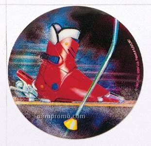 "Holographic Mylar - 2"" Downhill Skiing"