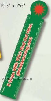 """Biodegradable Plastic Circular End Bookmark Without Slot (0.015"""" Thick)"""