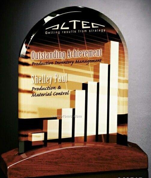 """Crystal Illumachrome Parkdale Arch Award (6 1/2""""X7 1/2""""X2"""")"""
