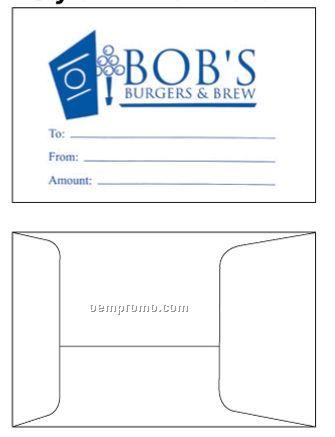 "Custom Printed Gift Card Envelopes (2 1/4""X3 1/2"")"