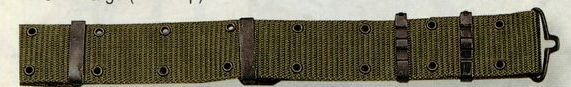 Olive Green Drab Medium Gi Nylon Pistol Belt With Metal Buckles