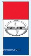 Single Face Dealer Interceptor Drape Flags - Scion