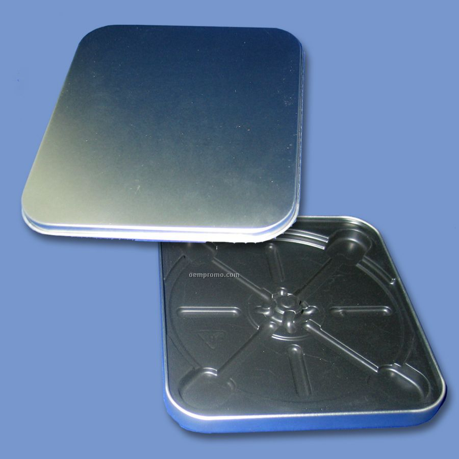 Square CD Tin - No Hinge