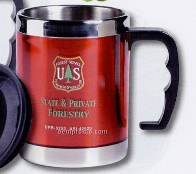 16 Oz. Colorful Stainless Steel Wide Mouth Desk Mug