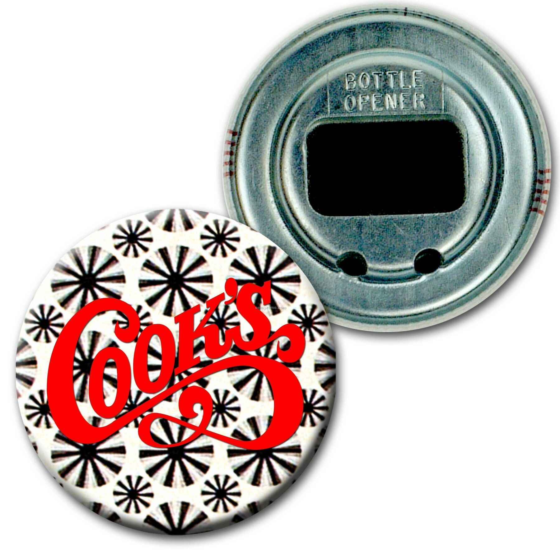 "2"" Diameter Round Bottle Opener W/3d Lenticular Images (Imprinted)"
