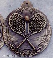 "2.5"" Stock Cast Medallion (Tennis Racquets)"