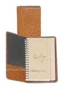 Chocolate Brown Plonge Leather Pocket Planner
