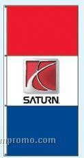Single Face Dealer Interceptor Drape Flags - Saturn