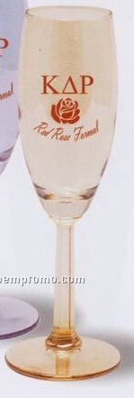 6 Oz. Luster Tinted Flute Glass With Faceted Stem