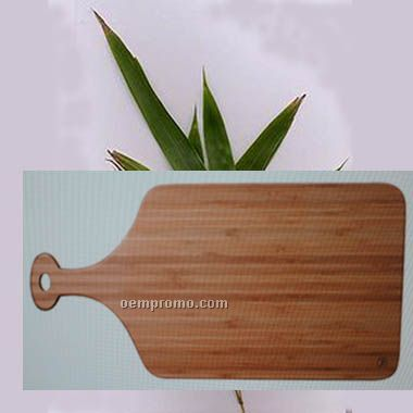 Eco Friendly Bamboo Cutting Board, Med Size Paddle