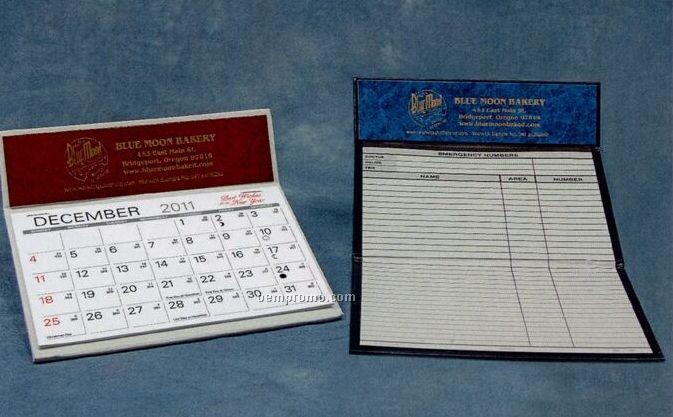 Magna Nu-leth-r Desk Calendar (After April)