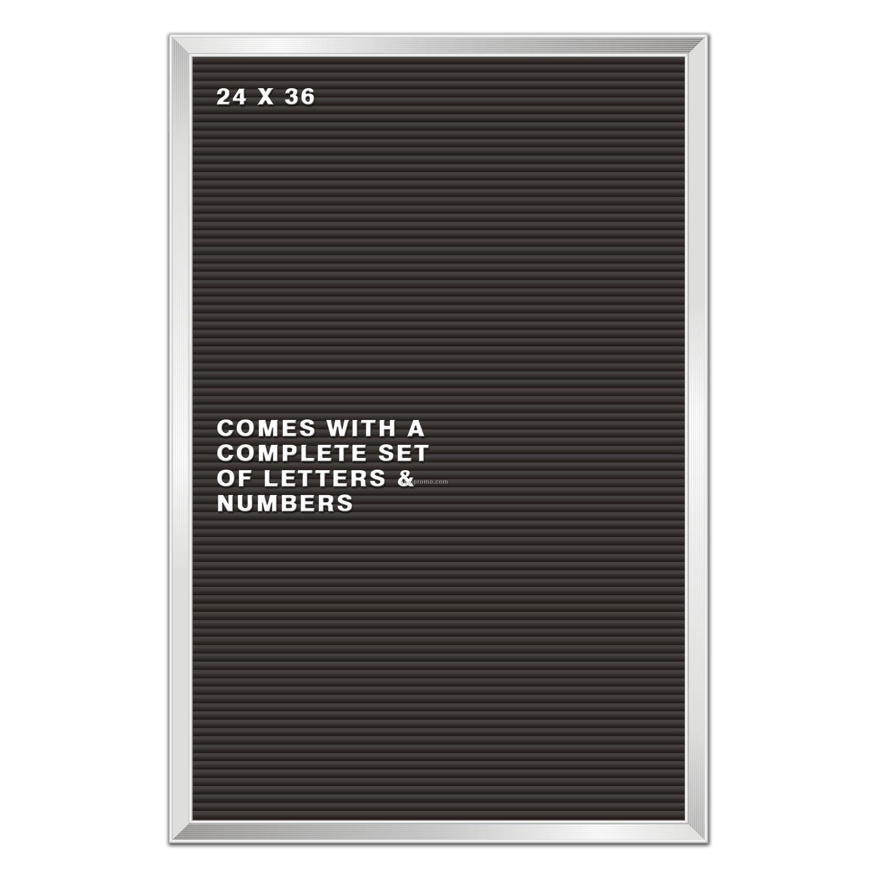 Aluminum W Panels : Old reliables letter board w aluminum frame black panel