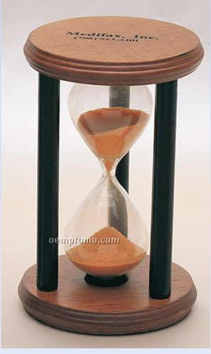 "3""X4-3/4"" 3-minute Wooden Sand Timer (Screened)"