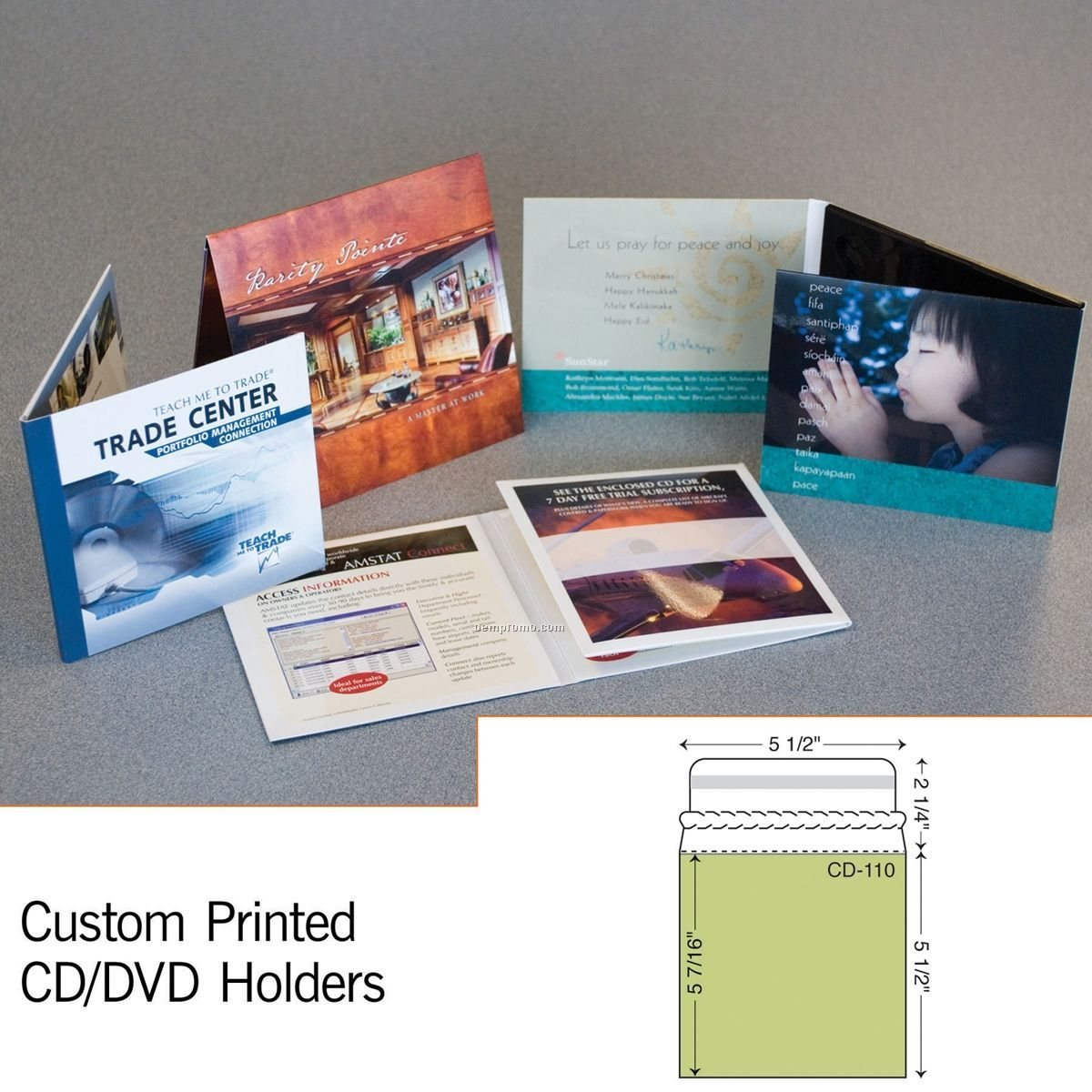"""CD Sleeve Mailer W/ 2 1/4"""" Flap (1 Color)"""