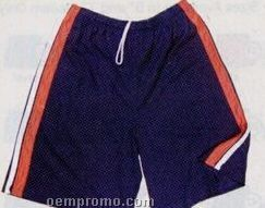"""Cool Mesh Adult Shorts W/ Contrasting Piping & 9"""" Inseam (Xxxxxl)"""