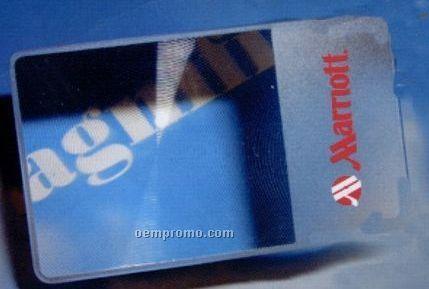 Credit Card Fresnel Lens W/ Pvc Case
