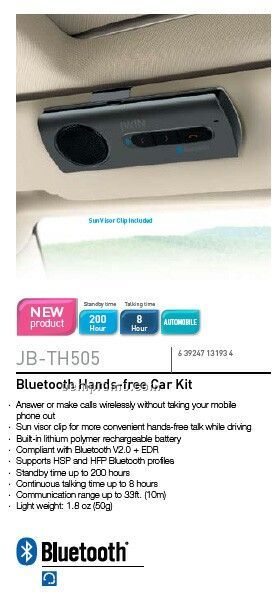 Jwin Bluetooth Car Kit