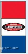 Single Face Dealer Interceptor Drape Flags - Toyota Certified