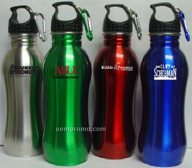 22 Oz Stainless Steel Ergonomic Bottle (Screened)