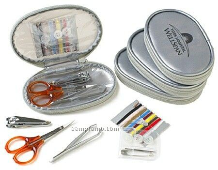 Silver Flash Travel Sewing Kit