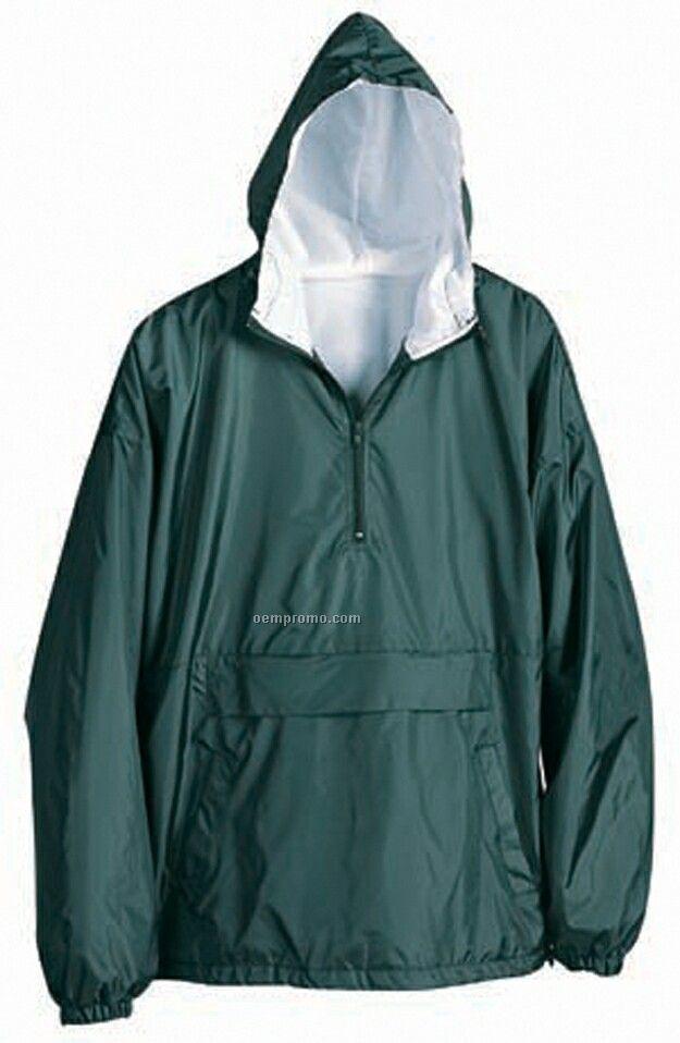 Water Resistant Taffeta Nylon Hooded Jacket & Pants Warm Up Set