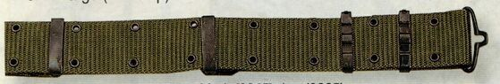 Olive Green Drab Large Gi Nylon Pistol Belt With Metal Buckles