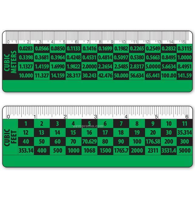 "Ruler 6"" Lenticular Cubic Meters/Feet Conversion Flip Effect (Blanks)"