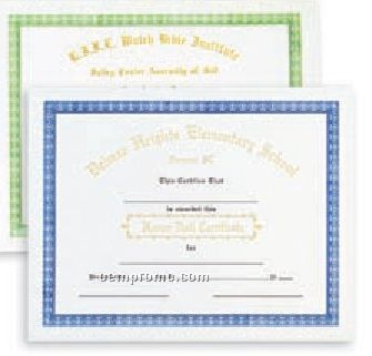 """Stock Personalized Certificate W/ Foil (""""A"""" Honor Roll)"""