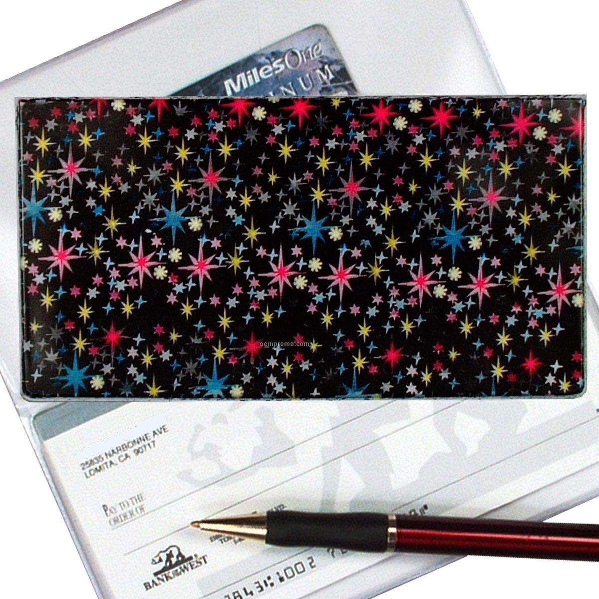 3d Lenticular Checkbook Cover (Sparkling Stars)