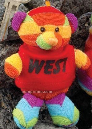 "4"" Rainbow Bear Finger Puppet"