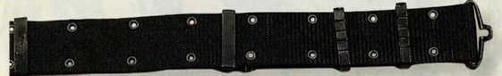 Black Large Gi Nylon Pistol Belt With Metal Buckles
