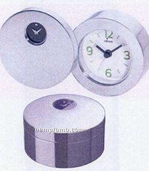 Silvertone Travel Alarm Clock