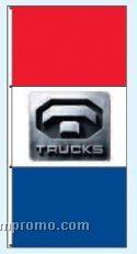Single Face Dealer Interceptor Drape Flags - Trucks
