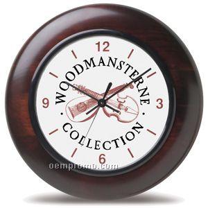 """12"""" Mahogany Wood Wall Clock"""