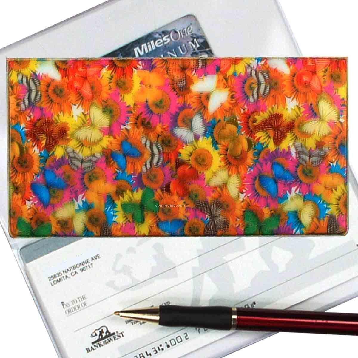 3d Lenticular Checkbook Cover (Butterflies & Flowers)