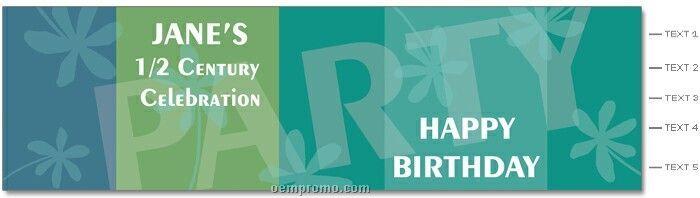 8 Oz. Flat Cap Bottled Water W/ Label (Birthday Party-flower Power)