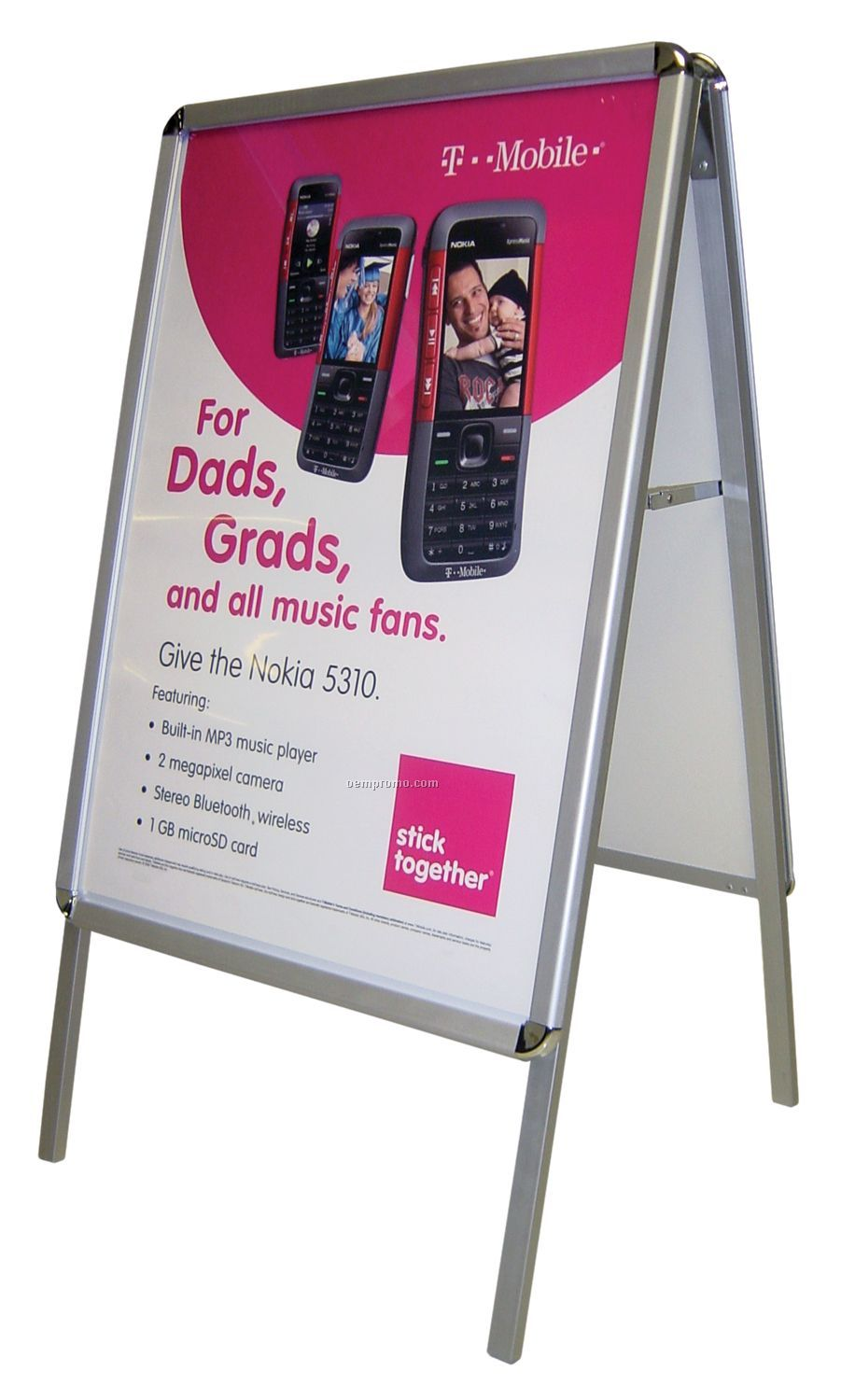 A-frame Poster Stand Small W/ Double Sided Graphics