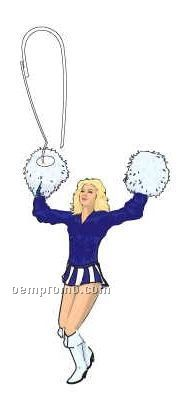 Cheerleader Zipper Pull
