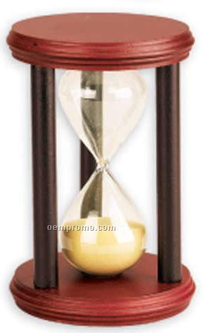 Cherry Wood Hourglass Sand Timer