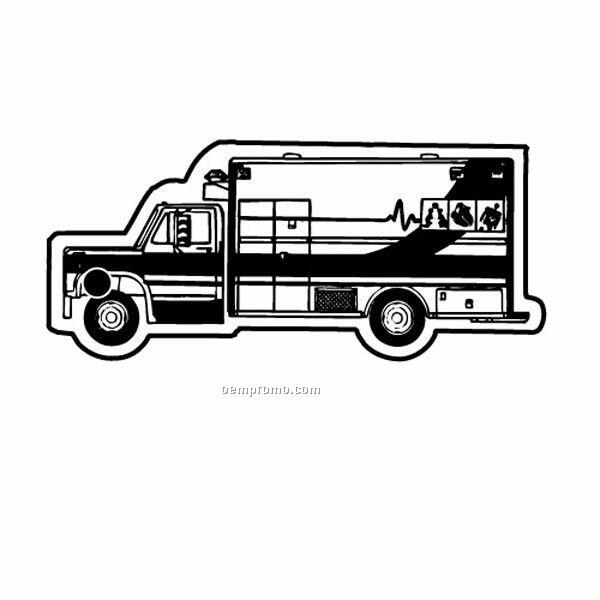 Stock Shape Collection Ambulance 7 Key Tag