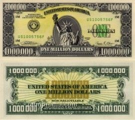 """Real"" Million Dollar Bill"